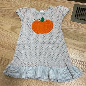 Gymboree Pumpkin Knit Sweater Dress Sz 3T
